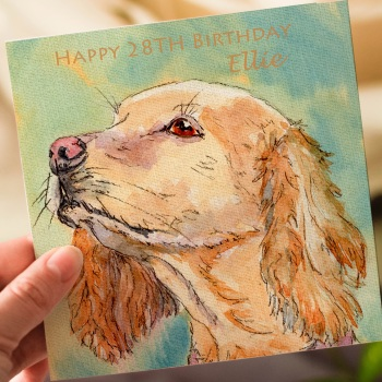Personalised Cocker Spaniel Greeting Card