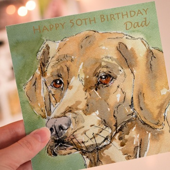 Personalised Golden Labrador Dog Greeting Card