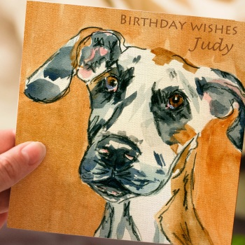 Personalised Great Dane Dog Greeting Card