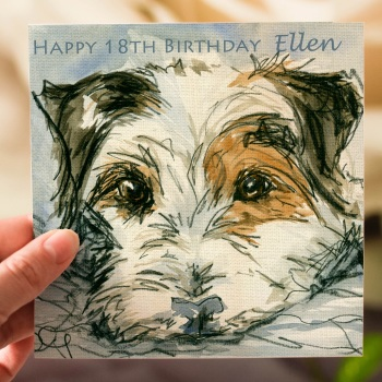 Personalised Jack Russell Terrier Greeting card