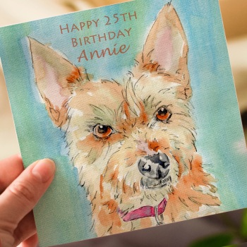 Personalised Jorkie Dog Greeting Card