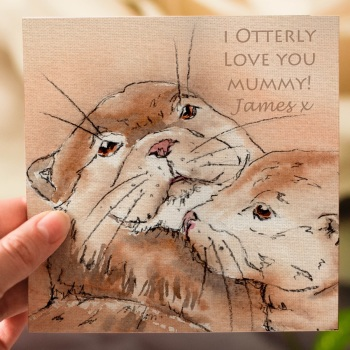 Personalised Otters Mothers Day Card