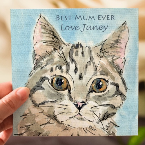 Personalised Cat Mothers Day Card