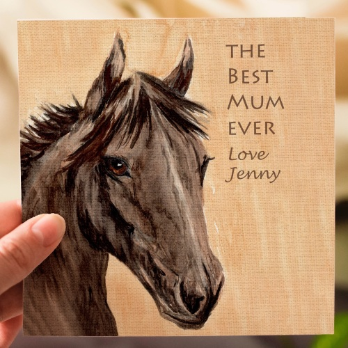 Personalised Horse Mothers day Card