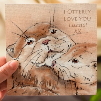 Otter Personalised Greeting Card