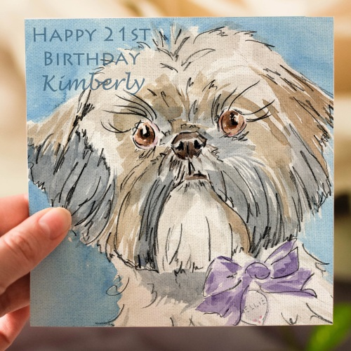 Personalised Shih Tzu Greeting Card