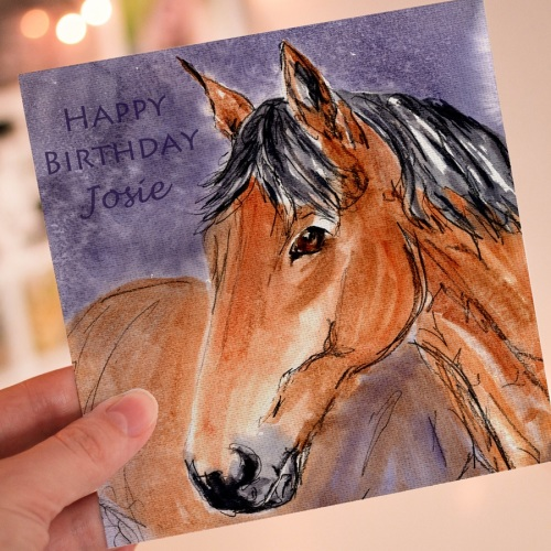 Personalised Horse Greeting card