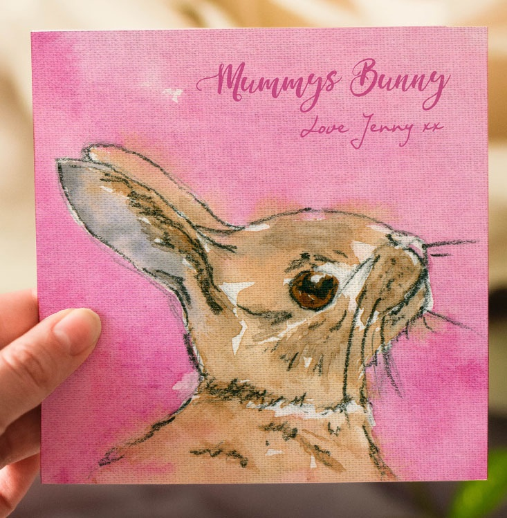 Personalised Baby Bunny Mothers Day Card