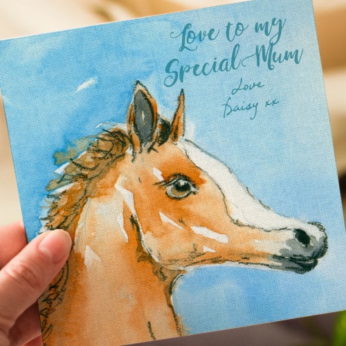 Personalised Foal Mothers Day Card