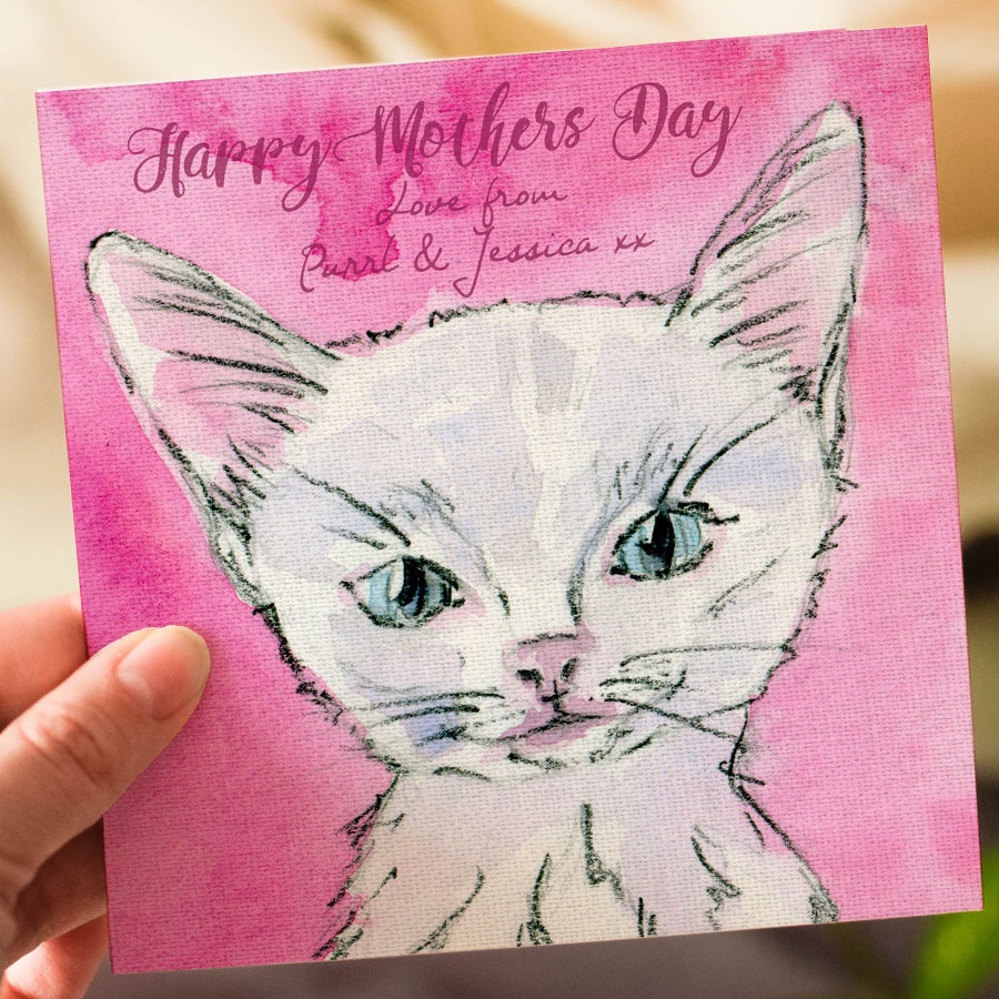 Mothers Day Personalised Kitten card