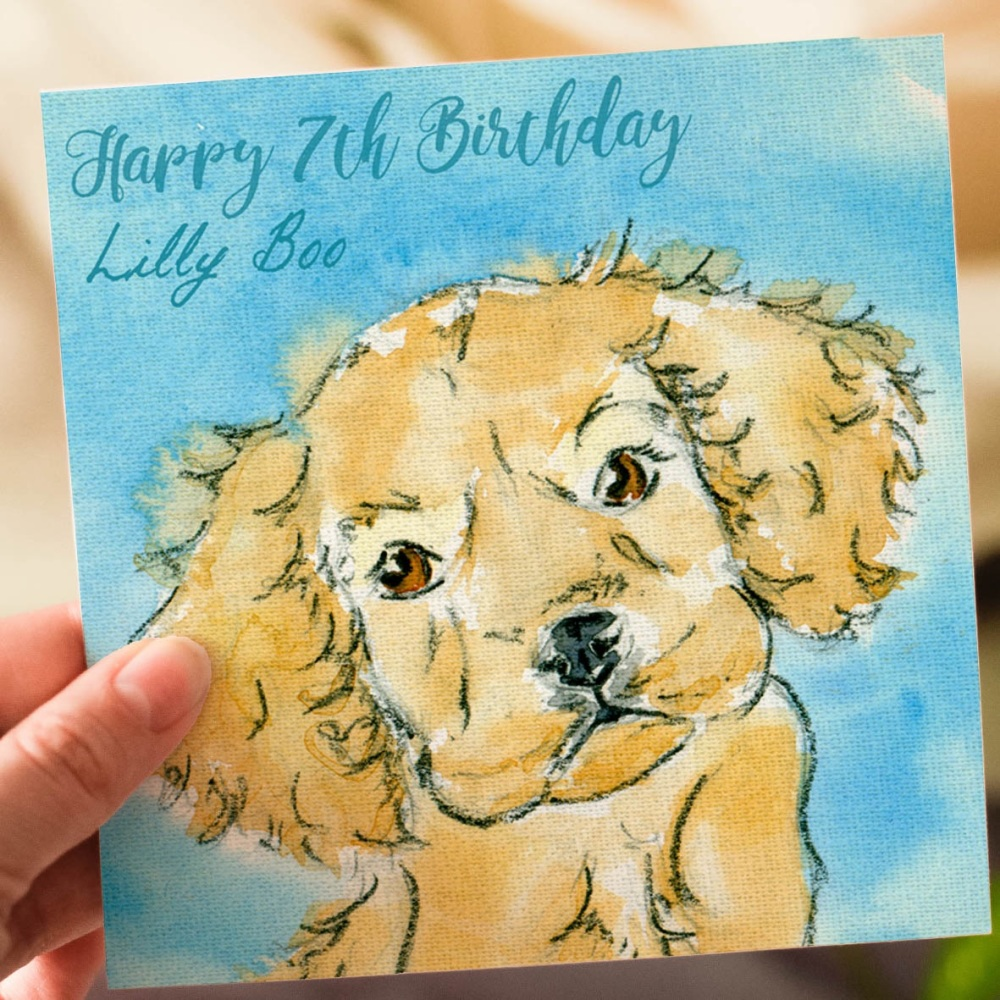 Personalised Kids Puppy Birthday Card