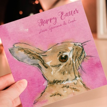 Personalised Easter Bunny Greeting Card