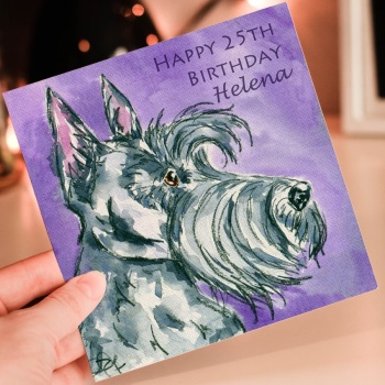 Scottish Terrier Personalised Birthday Card