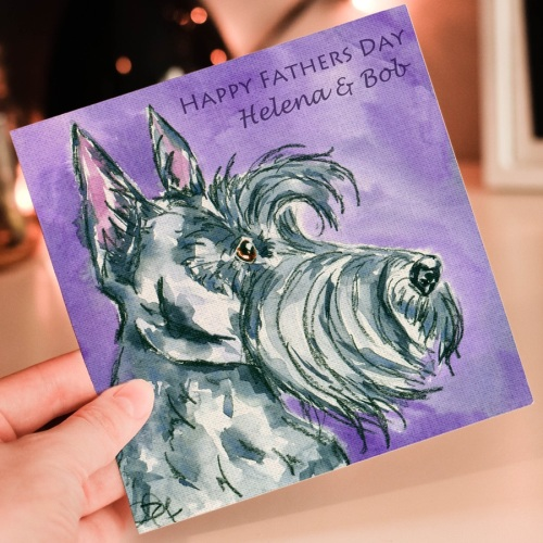 Personalised Scottie Dog Fathers Day Card