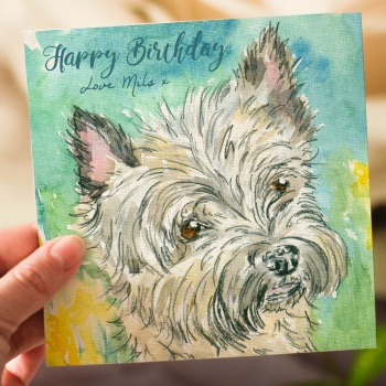 "Personalised Birthday Card ""Millie"" Cairn Terrier"