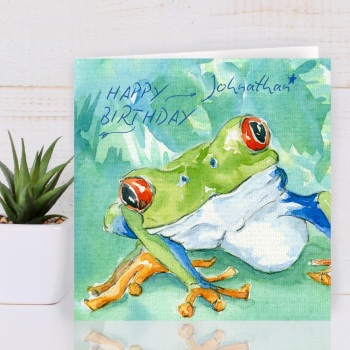 Personalised Tree Frog Card