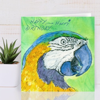 Parrot Personalised Greeting Card