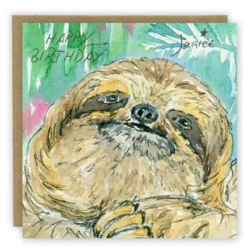 Sloth Personalised Greeting Card