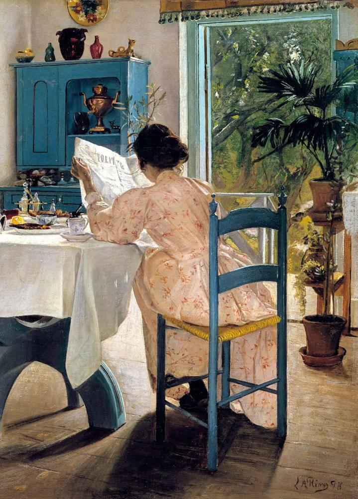 Laurits Andersen Ring: At Breakfast, 1898