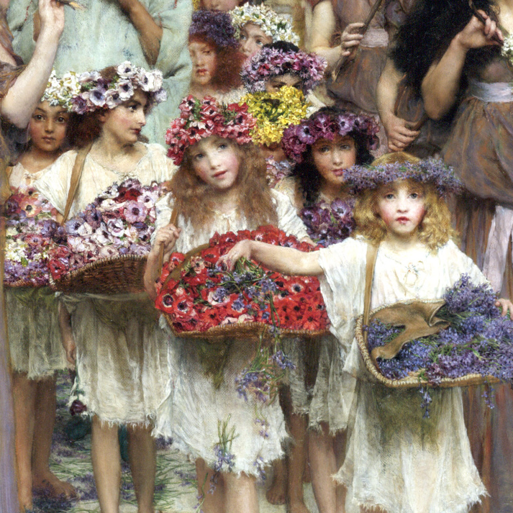 Young Girls with Flowers - detail from Spring, 1894
