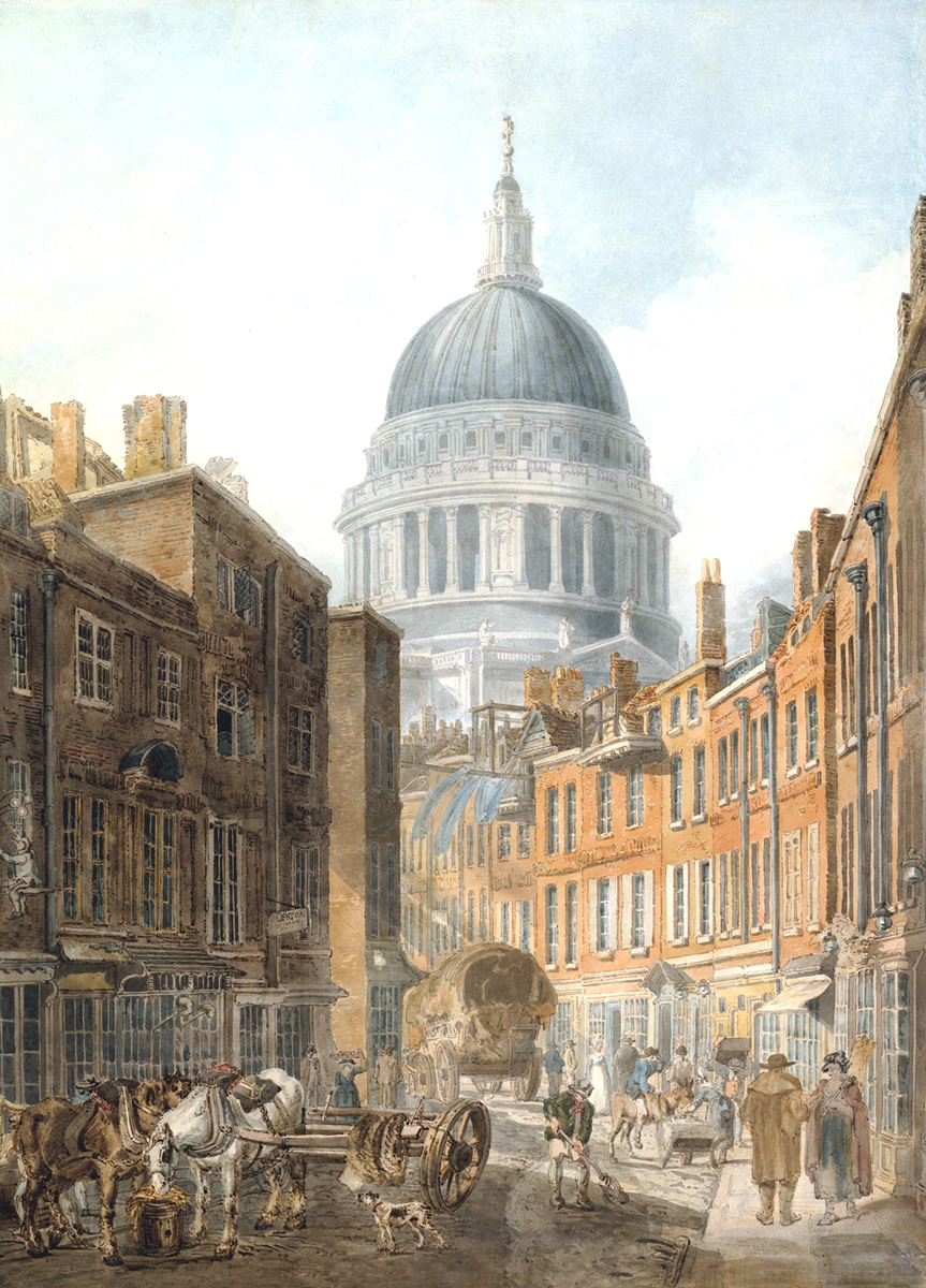 St Paul's Cathedral from St Martin's-le-Grand, 1795 - Thomas Girtin (1775-1