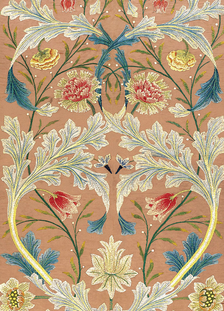 William Morris: Panel of Floral Embroidery (detail)