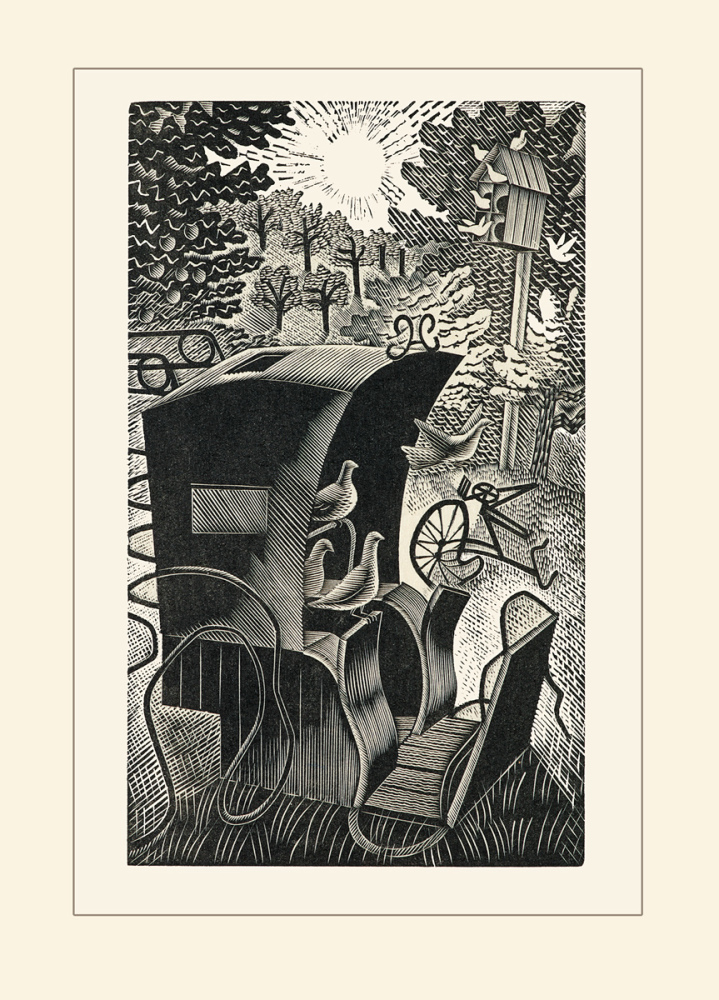 Eric Ravilious: The Hansom Cab, wood engraving, 1935