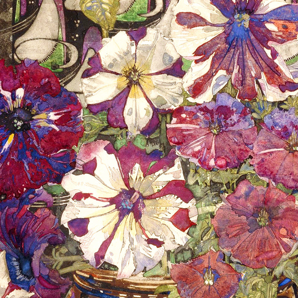 Charles Rennie Mackintosh - Petunias, 1916 (detail)