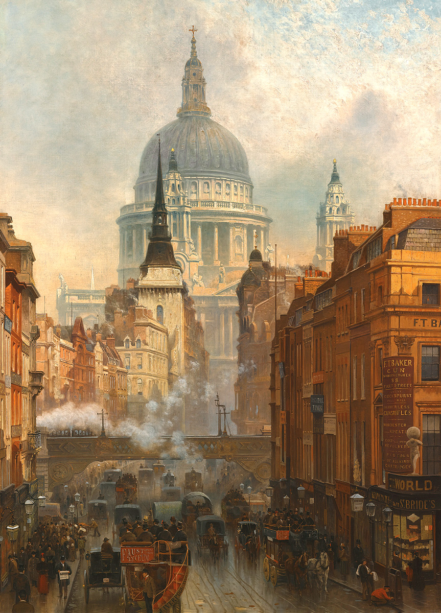 Ludgate, Evening, 1887 - John O'Connor