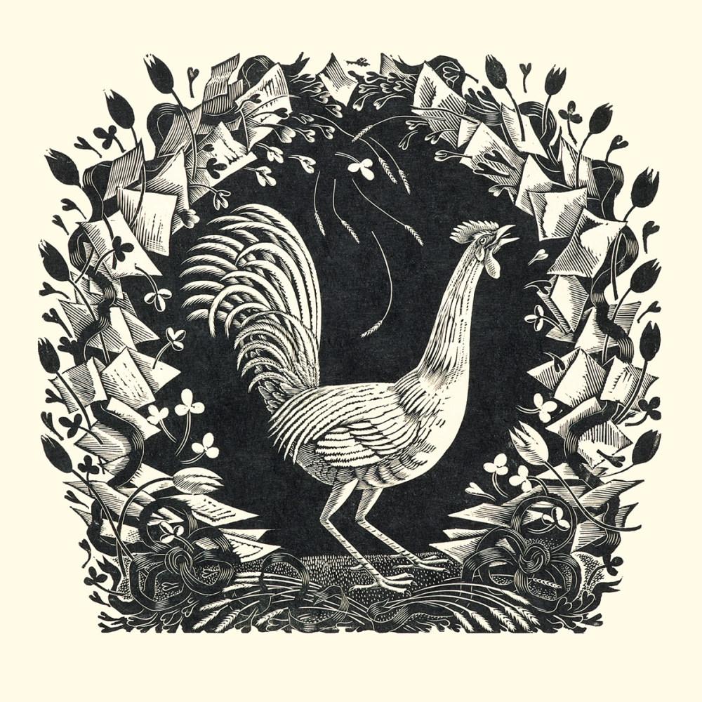 Eric Ravilious - Cockerel, 1931 (wood engraving)