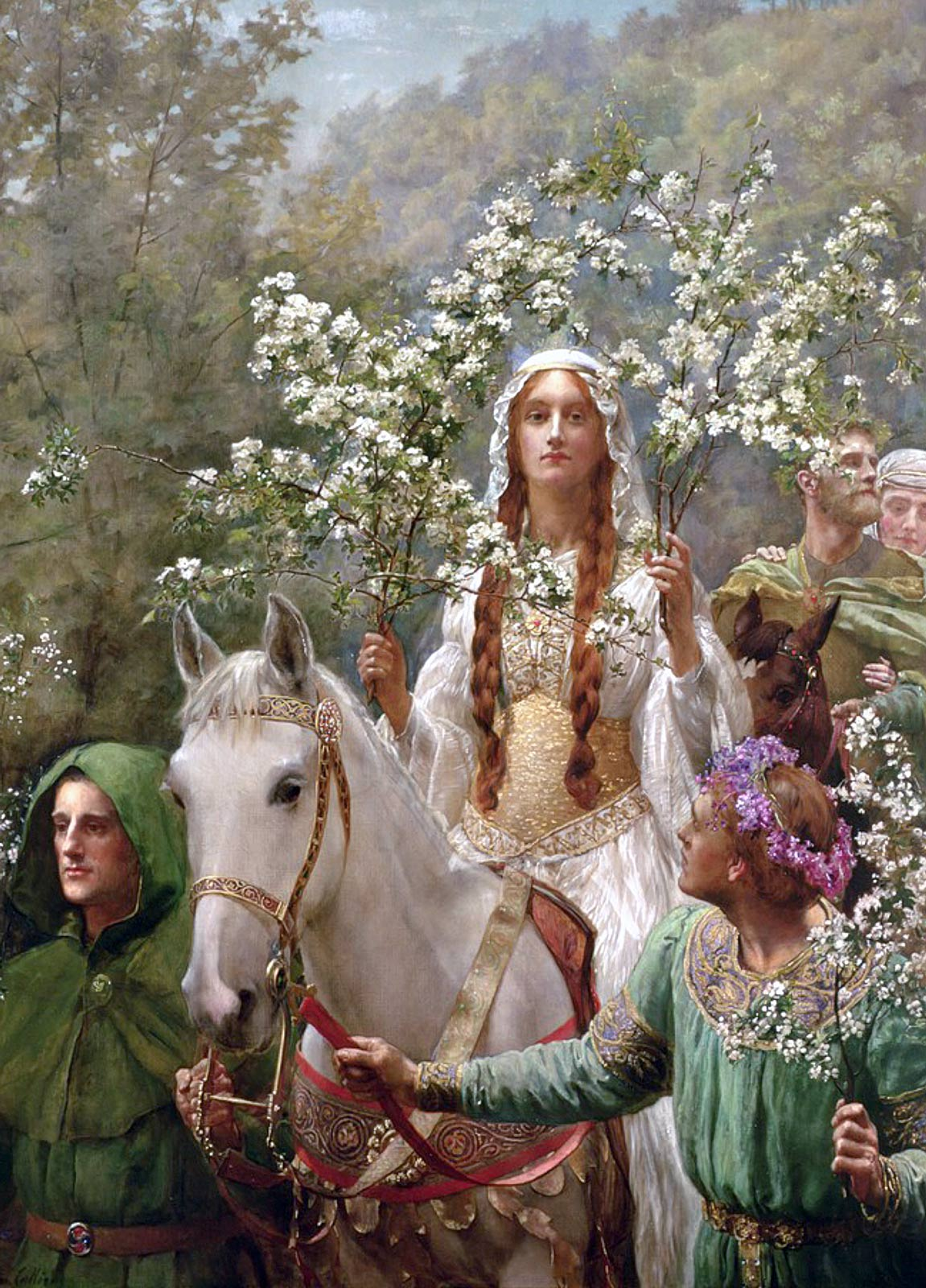 John Collier: Queen Guinevere's Maying, 1900