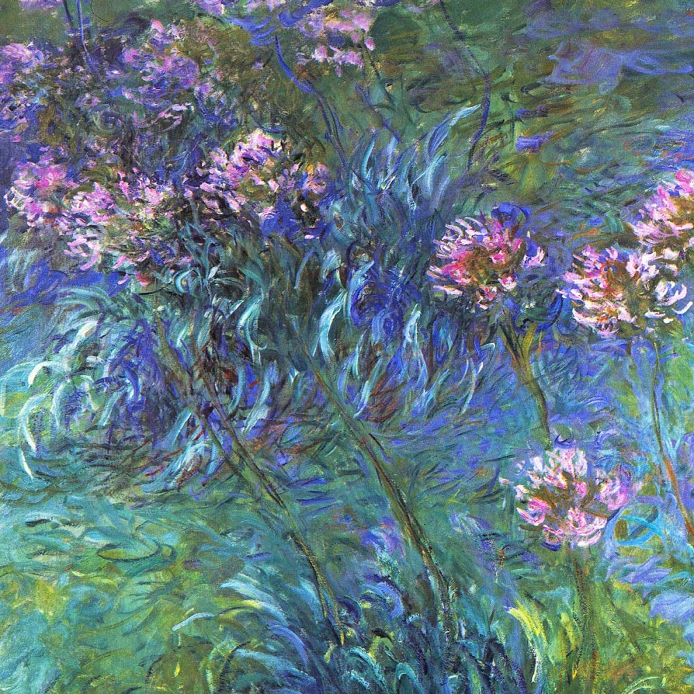 Claude Monet: Agapanthus (detail)