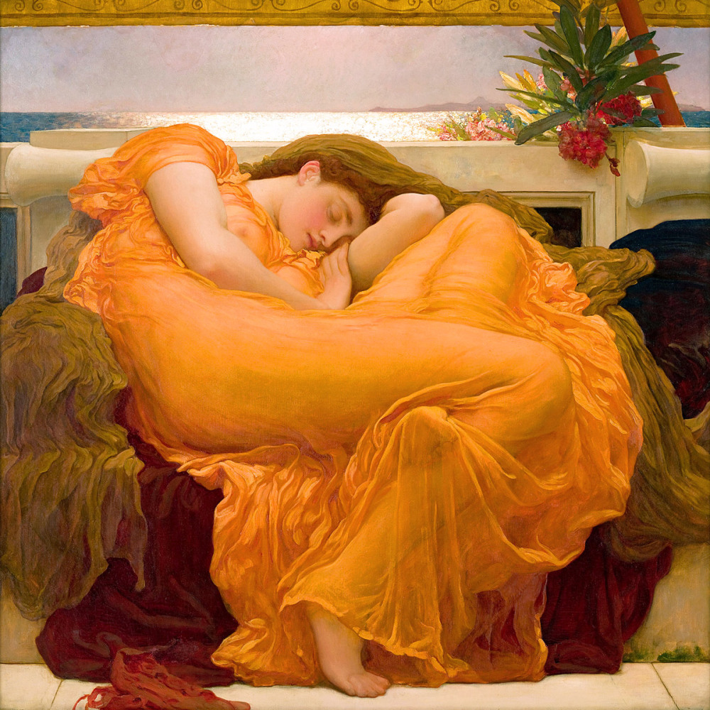 Frederic Lord Leighton: Flaming June, 1895