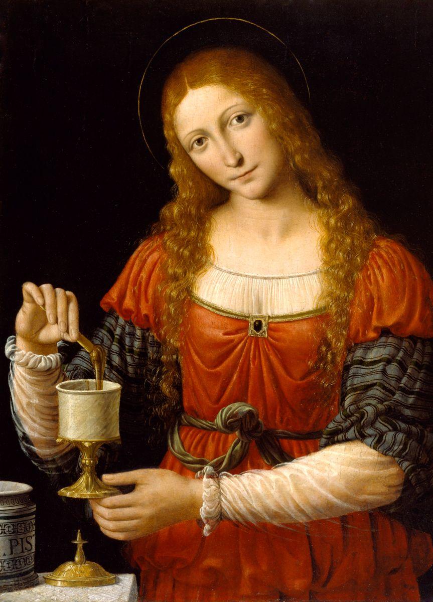 Mary Magdalene, c.1524: Andrea Solario or Bernardino Luini