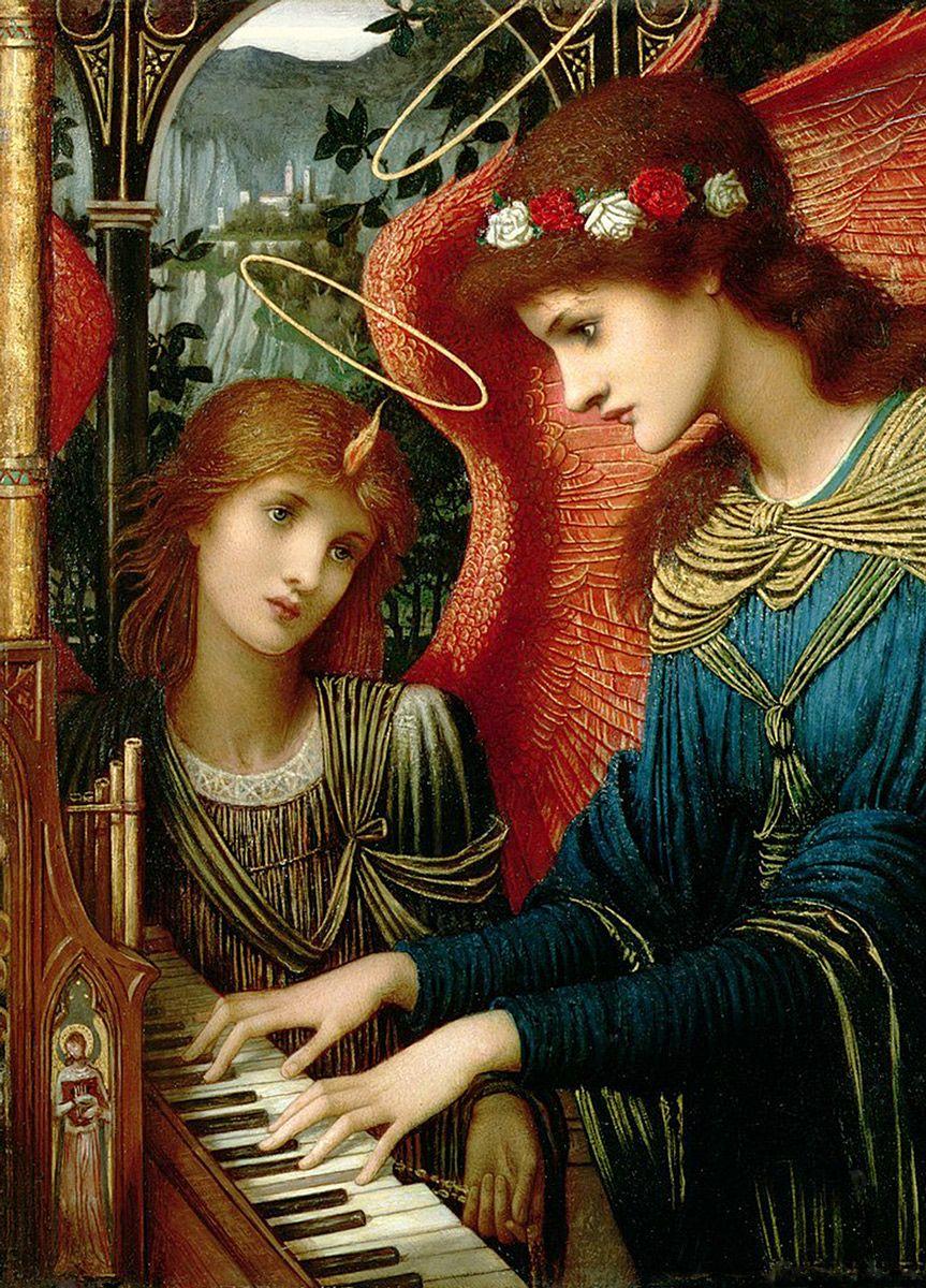 John Melhuish Strudwick: Saint Cecilia, 1896