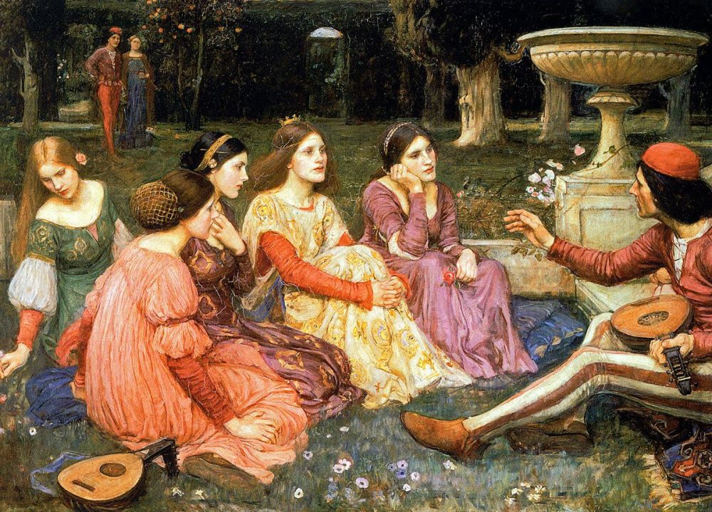 John William Waterhouse: A Tale from the Decameron, 1916