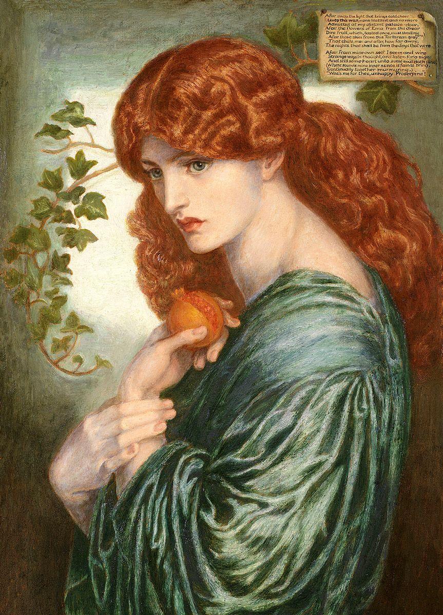 Dante Gabriel Rossetti: Proserpine (detail)