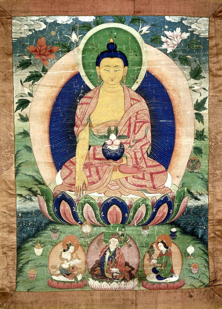 Buddha, Medicine Bhaishajyaguru: Tibetan painter, late 18th century