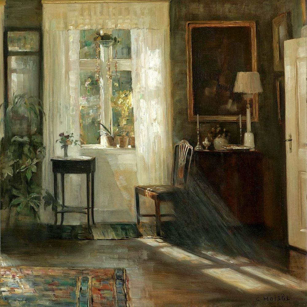 Carl Holsøe: Sunlit Interior