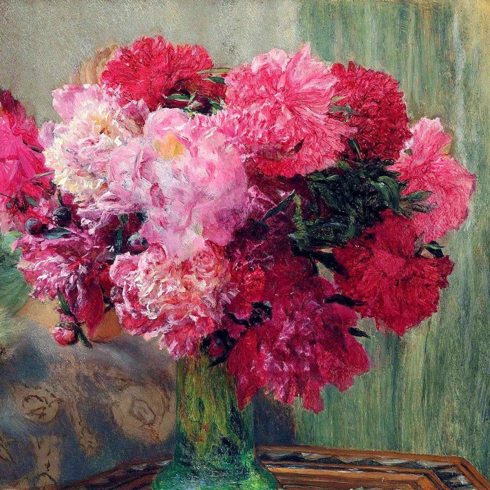 Lawrence Alma-Tadema: Japanese Peonies