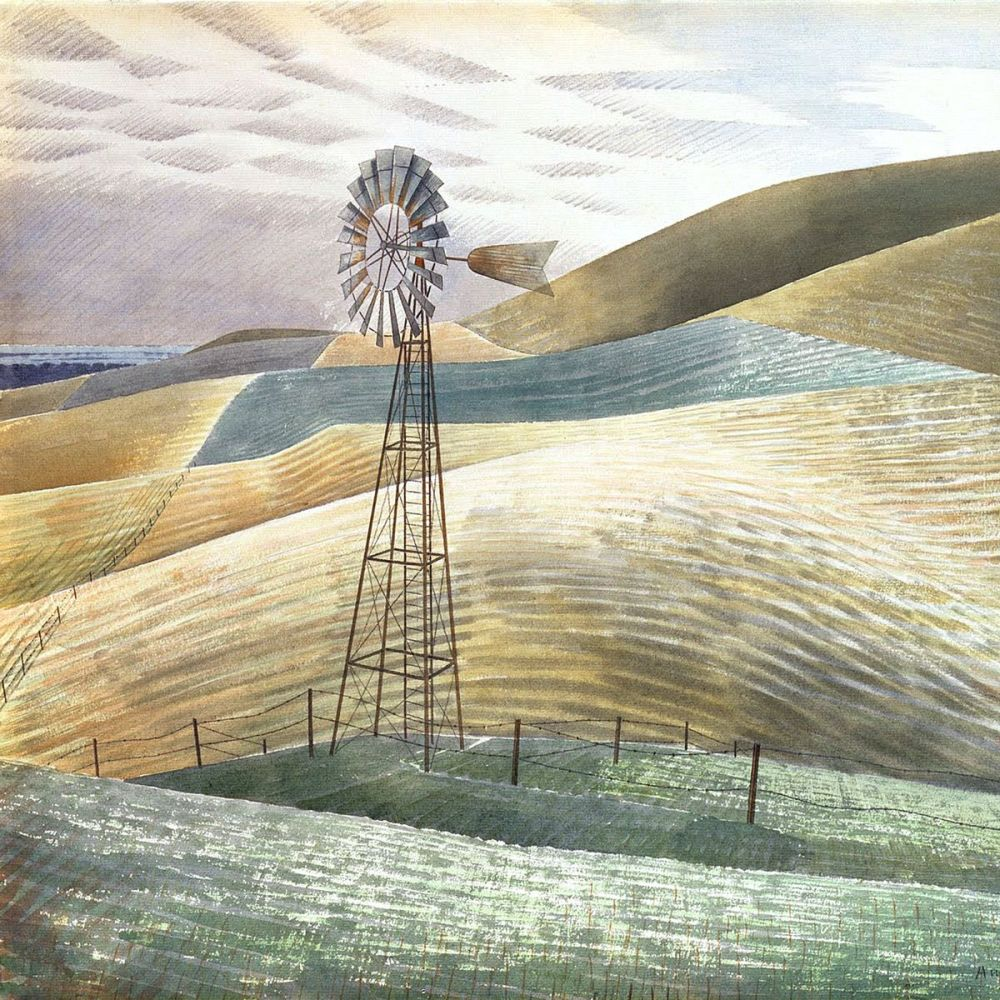 Eric Ravilious: Windmill, 1934 (detail)