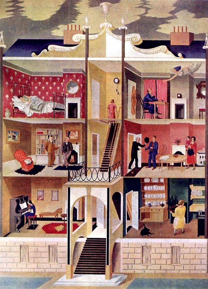 Eric Ravilious: Life in a Boarding House, 1930