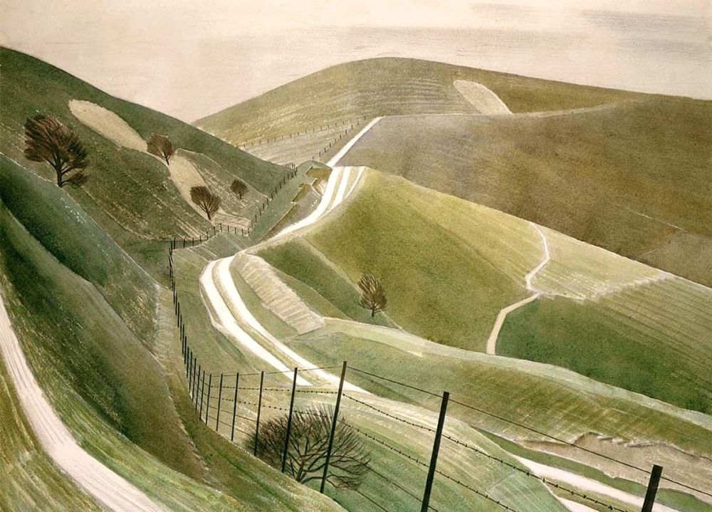 Eric Ravilious: Chalk Paths, 1935