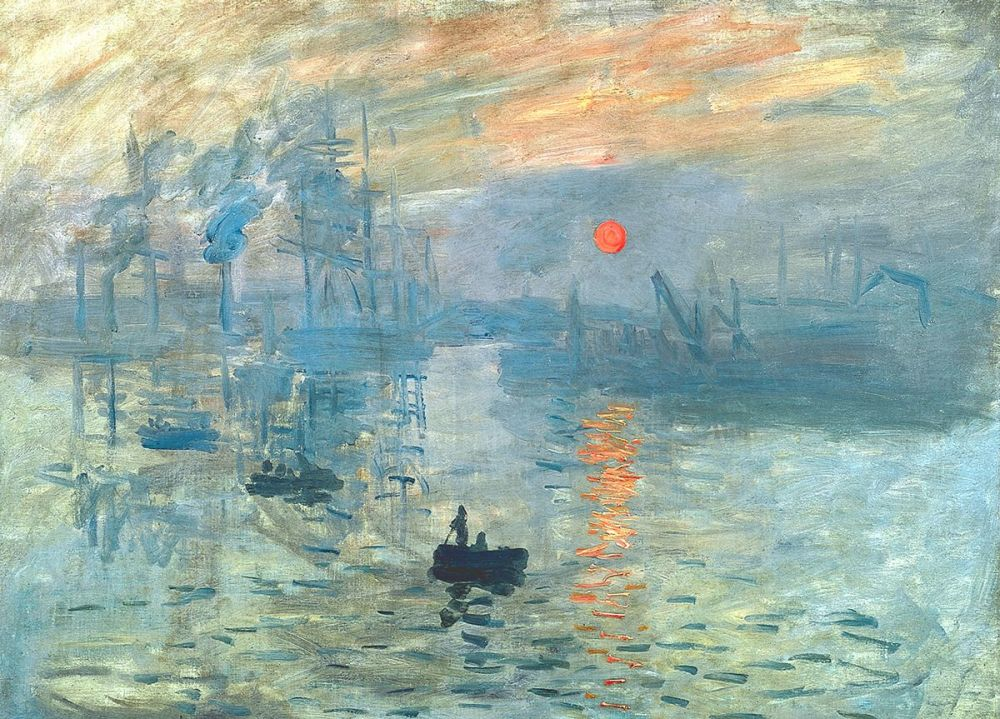 Claude Monet: Impression, Sunrise, 1872