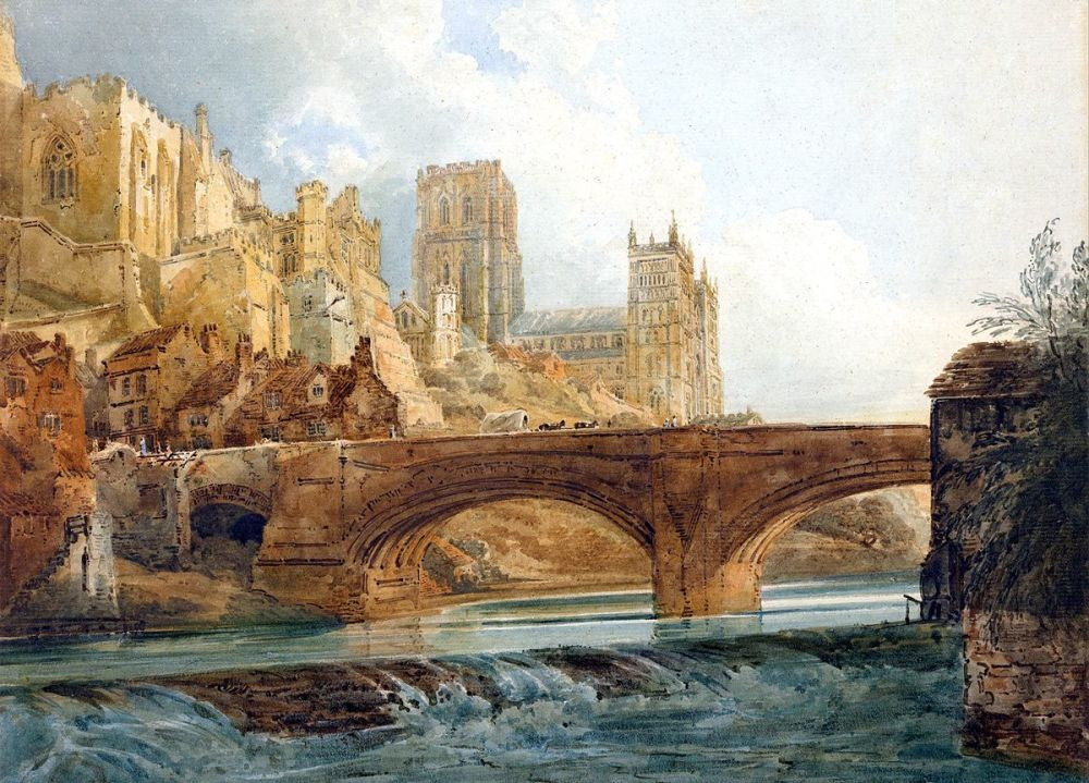 Thomas Girtin: Durham Cathedral and Castle, c.1800