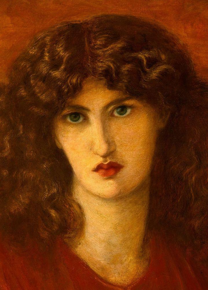 Dante Gabriel Rossetti: Pandora, 1871 (detail)