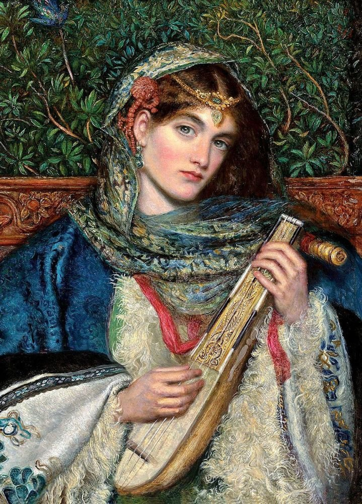 James Smetham: The Mandolin, 1866