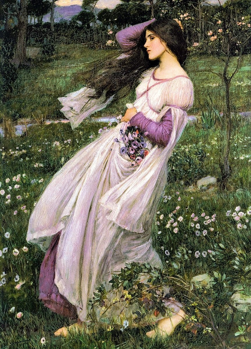 John William Waterhouse: Windflowers, 1903