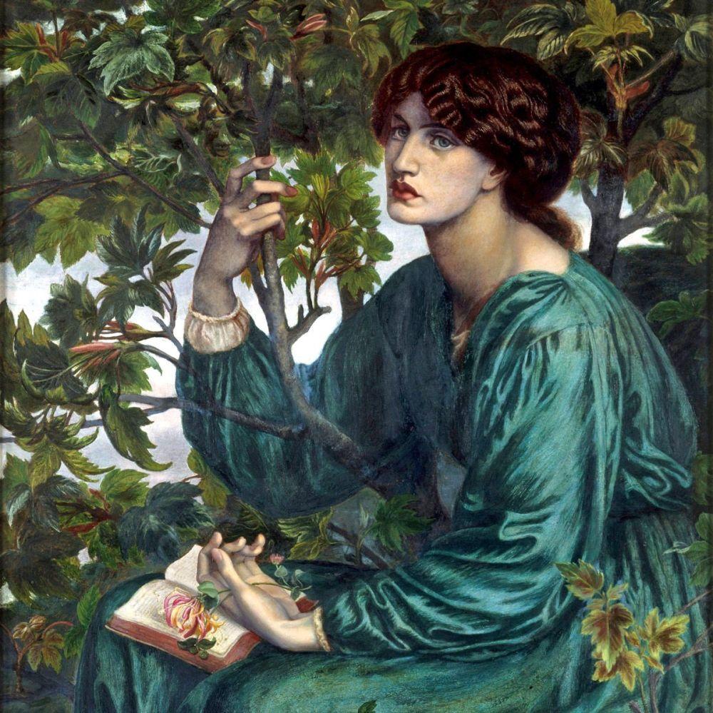 Dante Gabriel Rossetti: The Daydream, 1880 (detail)