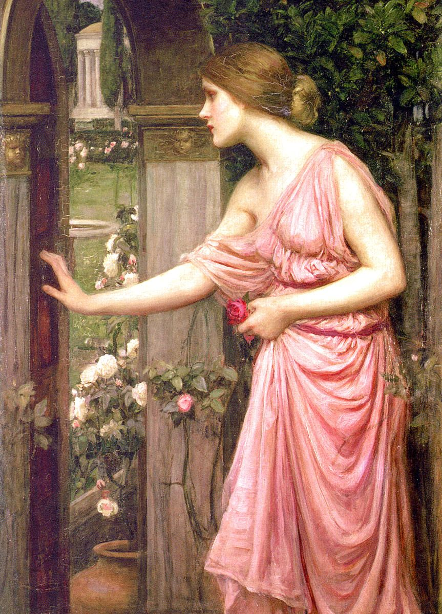 John William Waterhouse: Psyche Entering Cupid's Garden, 1903